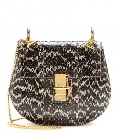 Chloe Drew black and white snakeskin shoulder bag available at MYTHERESA.com