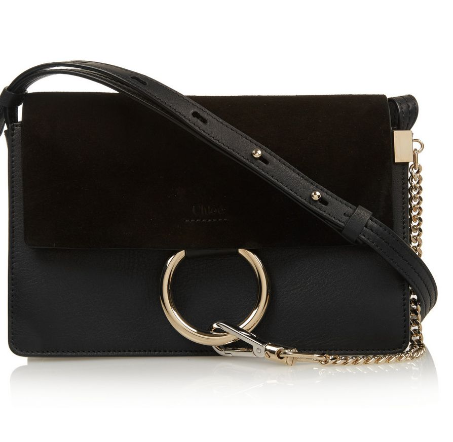Chloé Faye small black leather and suede bag available at NET-A-PORTER f4986aab85