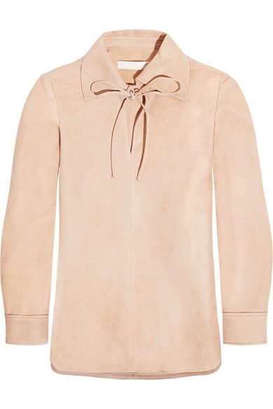 Chloé tie-front suede top available at NET-A-PORTER