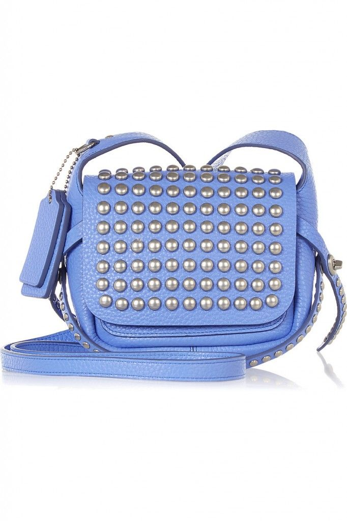 Coach Dakotah studded leather shoulder bag available at NET-A-PORTER
