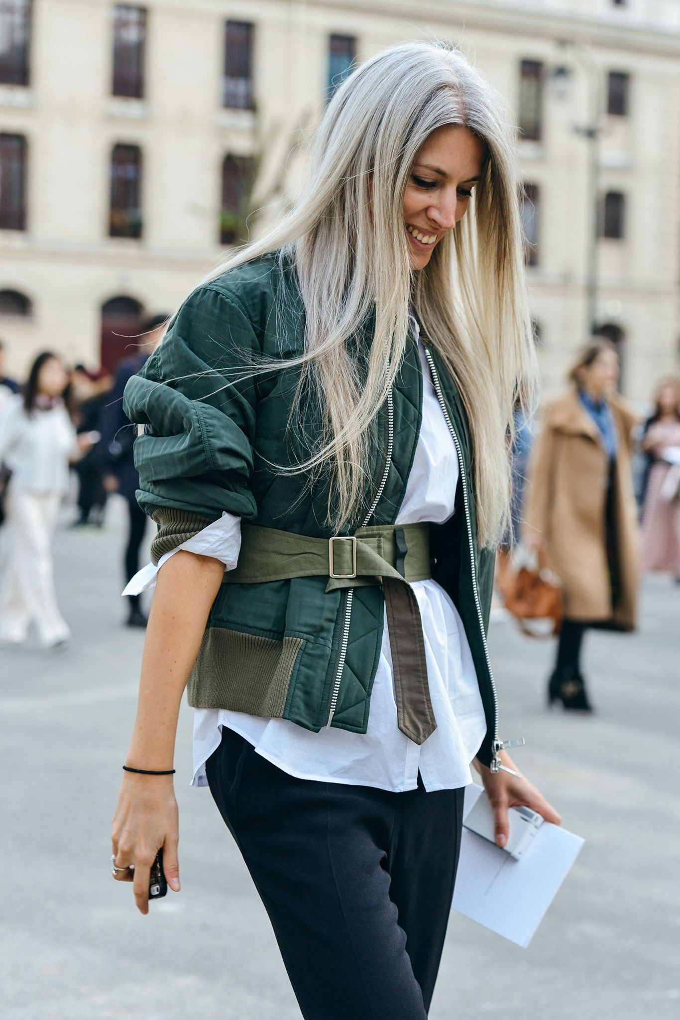 How To Wear A Bomber Jacket Like A Street Style Star Laiamagazine