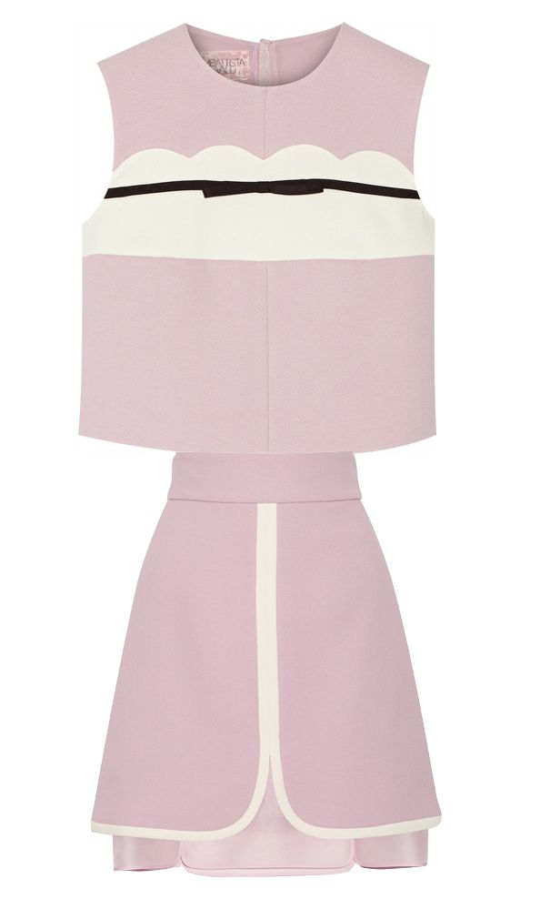 Giambattista Valli bow-embellished crepe top available at NET-A-PORTER