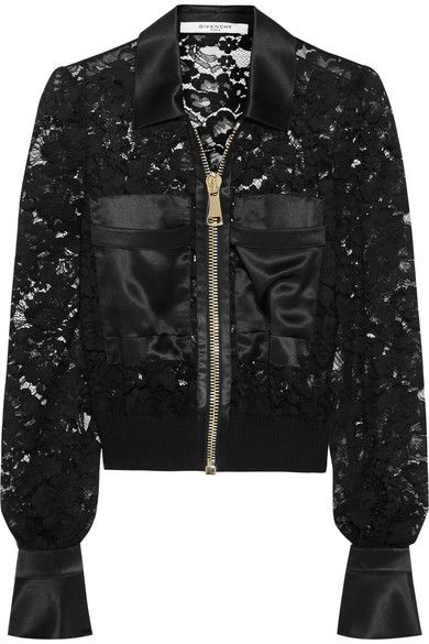 Givenchy bomber jacket in black lace
