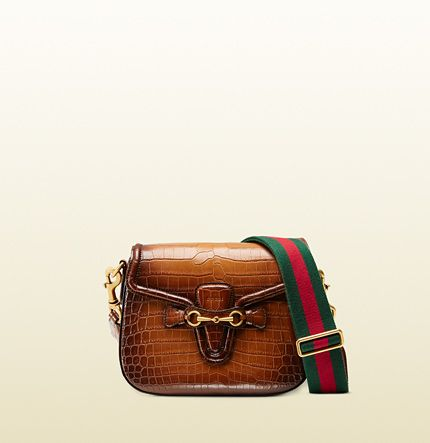 Gucci Lady Web hand-stained crocodile shoulder bag available at GUCCI.com