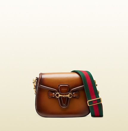 Gucci Lady Web hand stained leather shoulder bag available at GUCCI.com