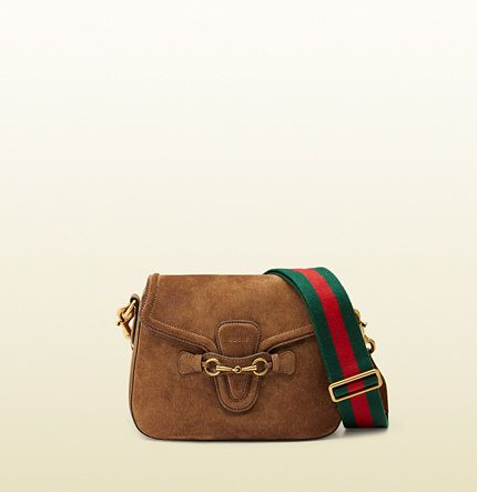 Lady Web suede soulder bag available at GUCCI.COM
