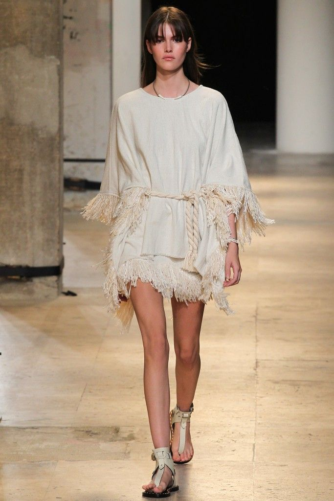 Isabel Marant SS15 silk woven poncho available at NET-A-PORTER