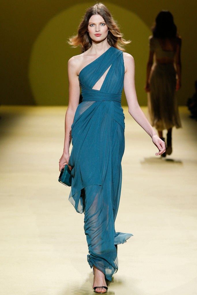 J Mendel one-shoulder cutout chiffon gown available at NET-A-PORTER