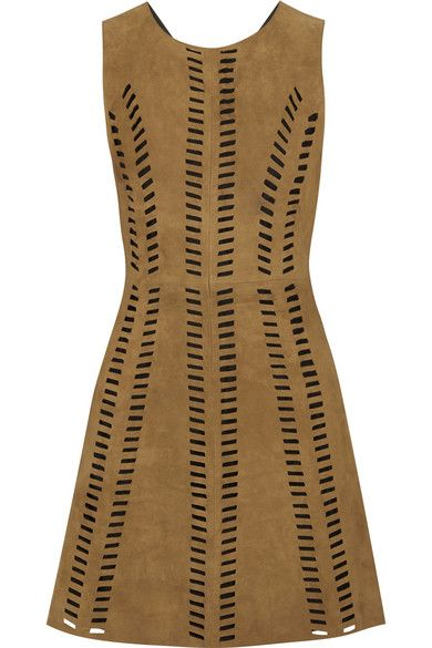 Maje perforated suede minidress available at NET-A-PORTER