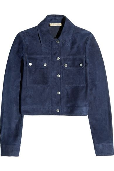Michael Kors suede cropped jacket available at NET-A-PORTER