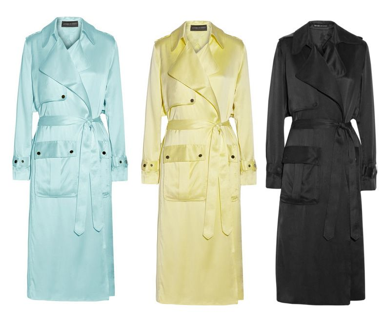 Michael Lo Sordo silk-satin trench coats