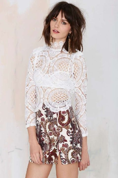 Nasty Gal lace crop top