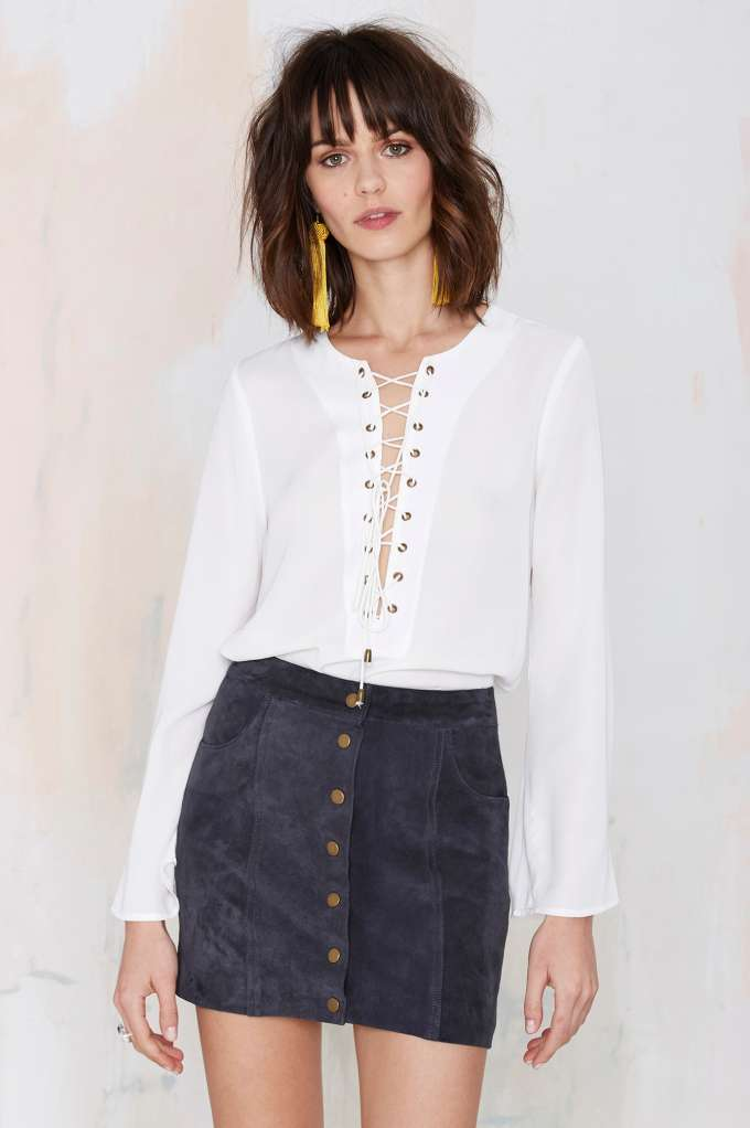 Nasty Gal Capulets Standards suede skirt available at NET-A-PORTER