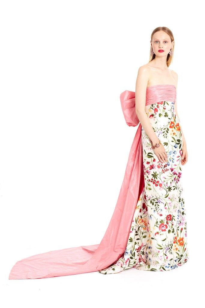 Oscar de la Renta English Garden back boe garden available at NET-A-PORTER