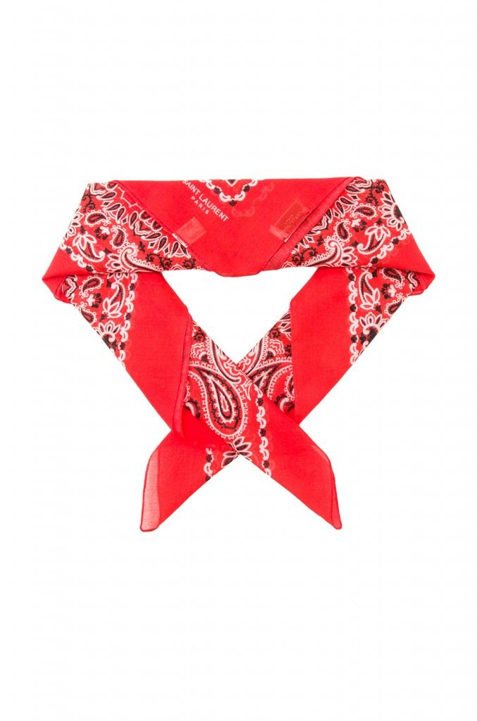 Saint Laurent bandana print scarf available at FORWARD BY ELYSE WALKER
