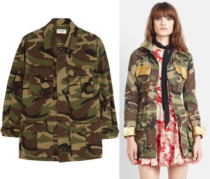 1) Camouflage print cotton jacket available at NET-A-PORTER