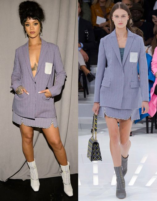Rihanna in Dior SS15 at the Tidal launch