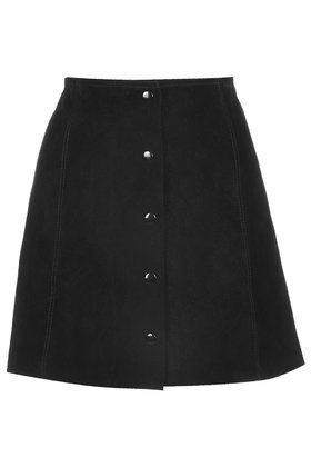 Suede A-Line skirt available at TOPSHOP
