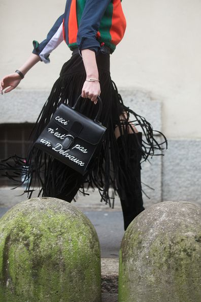 Valentino suede fringed skirt available at NET-A-PORTER