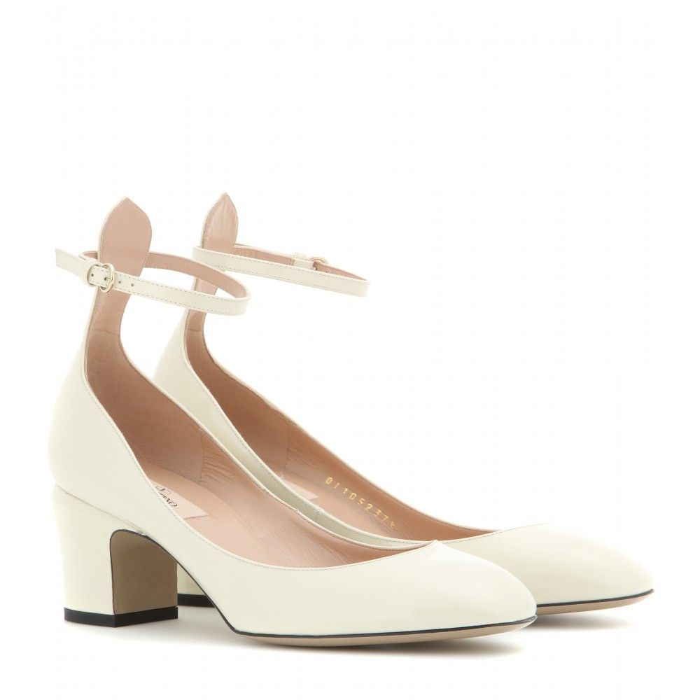 Valentino Tango cream patent-leather shoes