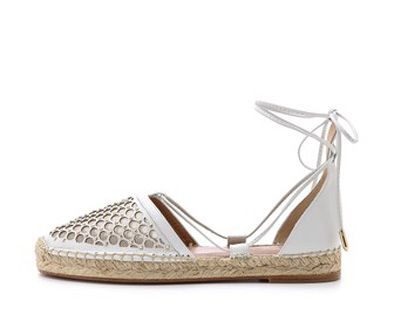 Aquazzura Blondie ankle wrap espadrilles available at SHOPBOP.com
