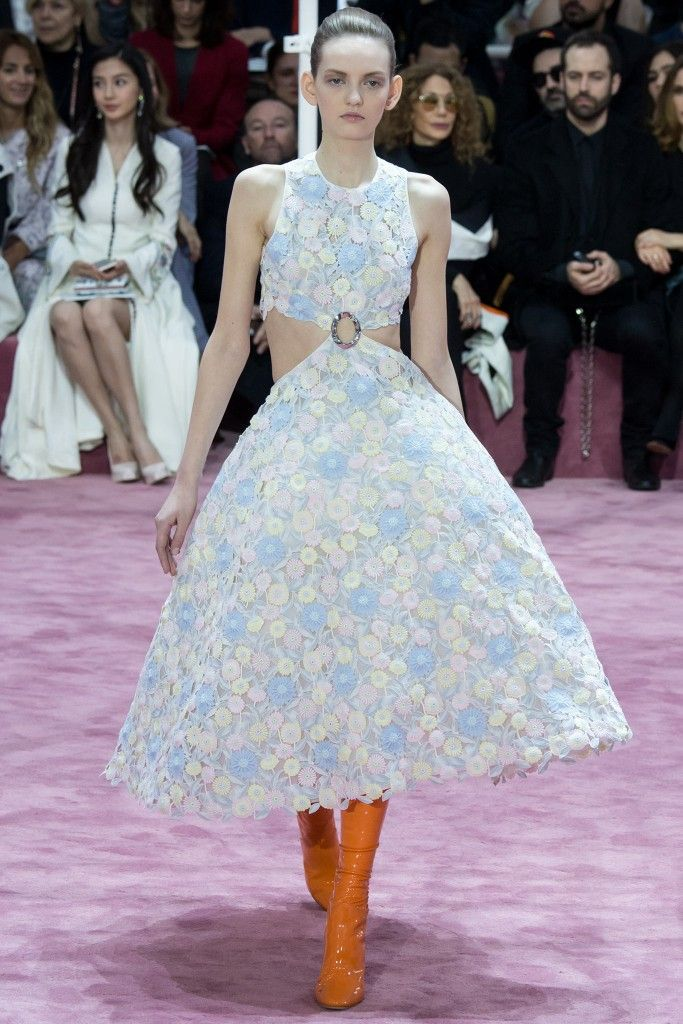 Emilia is wearing Dior Haute Couture SS15