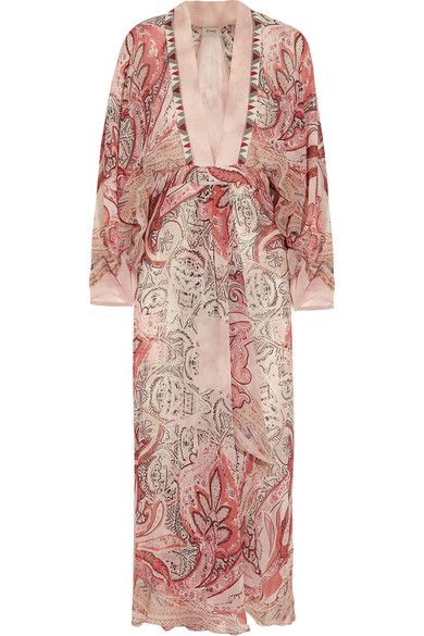 Etro beaded printed-silk dress available at NET-A-PORTER