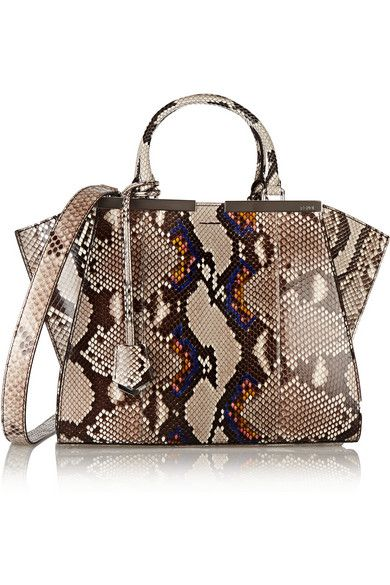 Fendi 3 Jours Medium python tote available at NET-A-PORTER