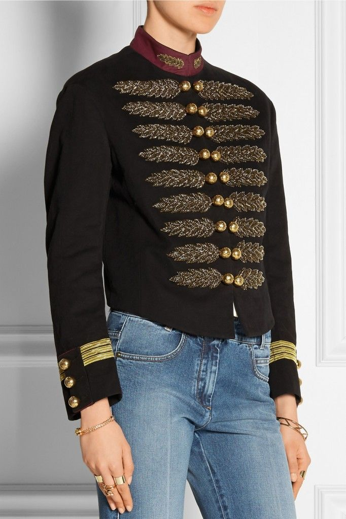Gucci embellished cotton and linen-blend jacket available at NET-A-PORTER