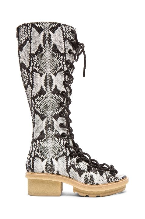 3.1 Phillip lim python print leather tall sandal boots available at FORWARD BY ELYSE WALKER