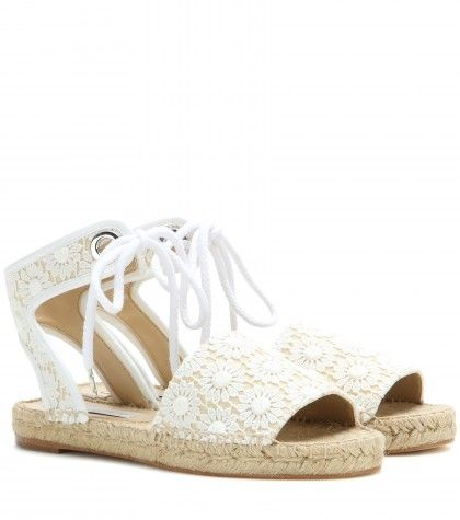 Stella McCartney lace espadrille sandals
