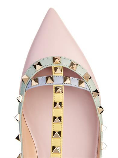 Valentino Rockstud leather flats available at MATCHESFASHIOn.com