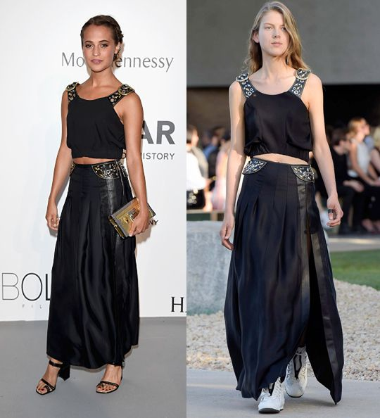 Alicia Vikander in Louis Vuitton Resort 2015