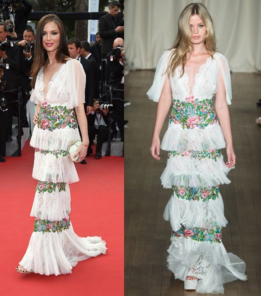 Georgina Chapman in Marchesa SS15