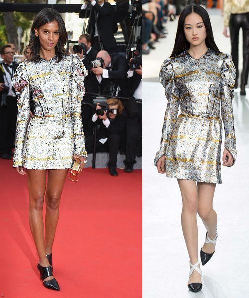 Liya Kebede in Louis Vuitton FW15