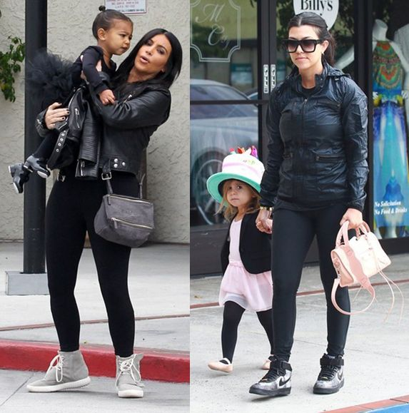Kim and Kourtney Kardashian taking their daughters North and Penelope to ballet class