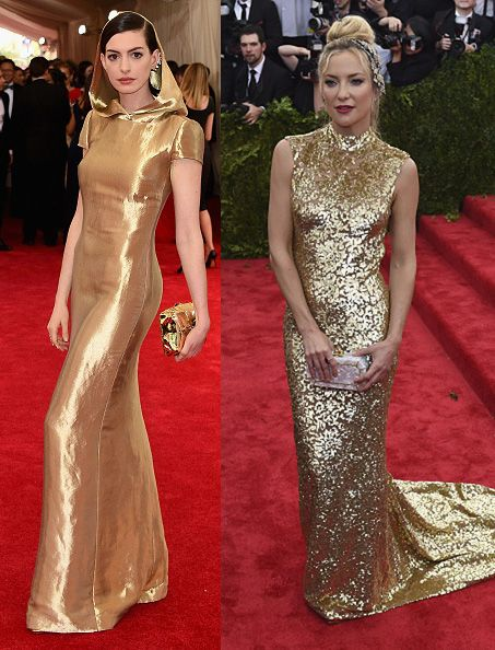 Anne Hathaway in Ralph Lauren and Kate Hudson in Michael Kors
