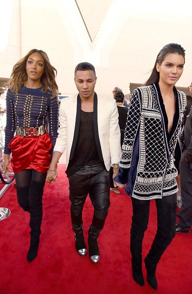 Jourdan Dunn and Kendall Jenner in Balmain x HM at the 2015 Billboard Music Awards red carpet.