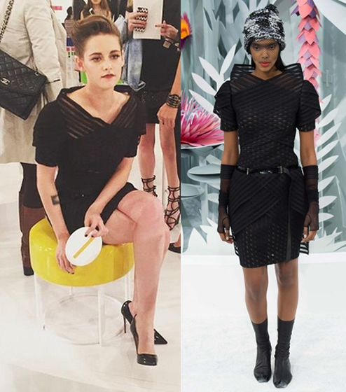 Kristen Stewart attending the Chanel Pais-Seoul Fashion Show wearing Chanel Haute Couture SS15