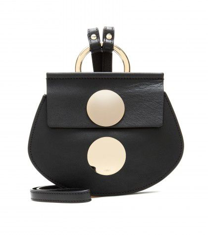 Chloé Faye mini black leather shoulder bag available at MYTHERESA.com
