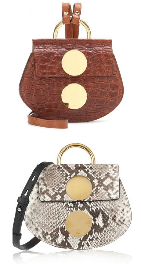 Chloé Faye mini embossed leather shoulder bag available at