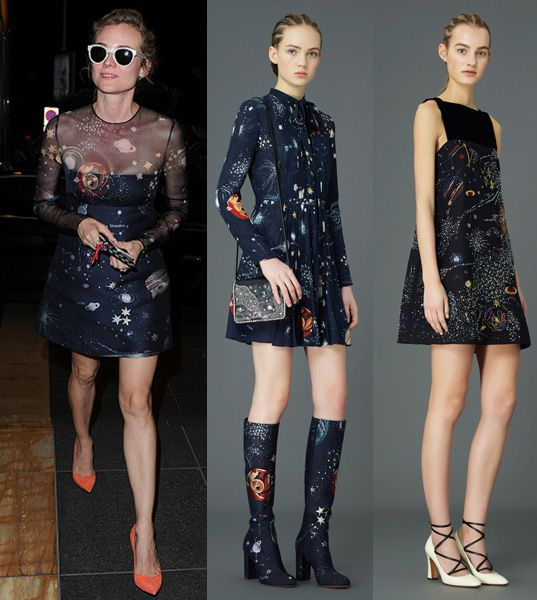 Diane Kruger leaves the 'TETOU' restaurant during the 68th annual Cannes Film Festival on May 17, 2015 in Cannes, France. She is wearing Valentino Pre-Fall 2015.