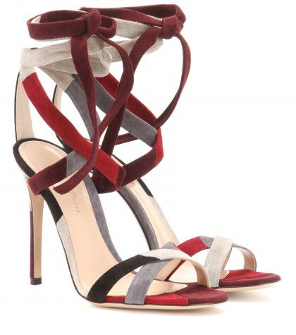 Gianvito Rossi Crosby suede sandals available at MYTHERESA.com