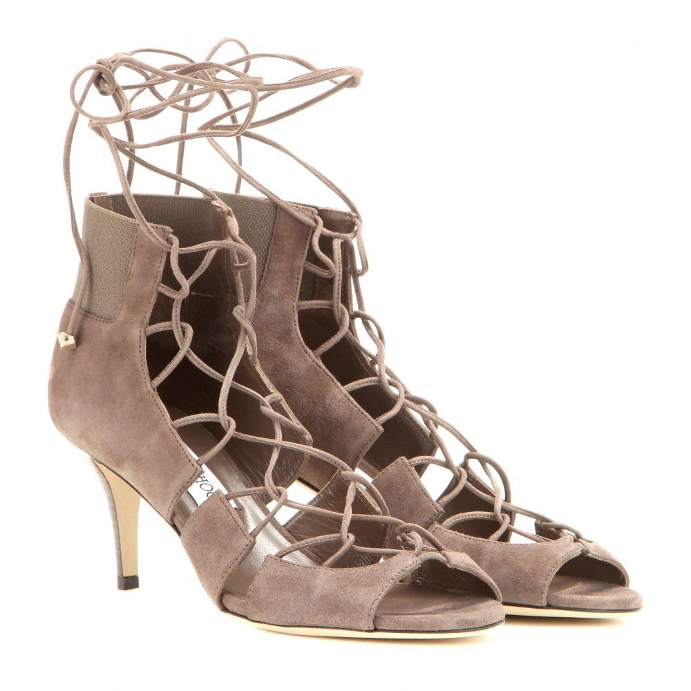Jimmy Choo lace-up suede sandals available at MYTHERESA.com