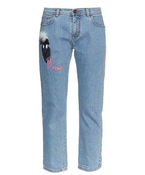 Karl Loves Fendi boyfriend jeans available at MATCHESFASHION