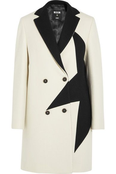 LAIA'S PICK: MSMG black star wool-blend felt coat available at NET-A-PORTER