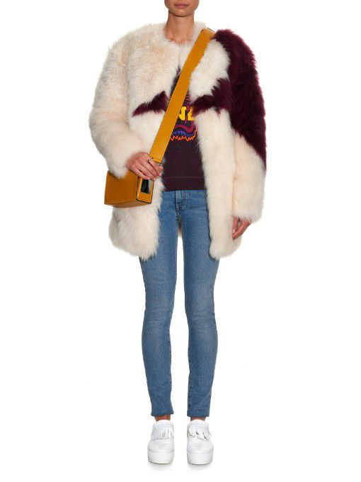 LAIA'S PICK: MSGM oversized star goat hair coat available at MATCHESFASHION.com