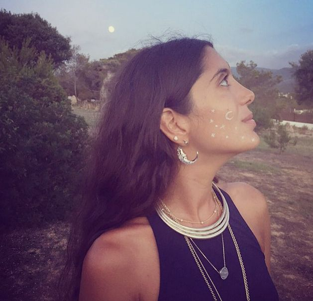 Chasing the Full Moon in #Venyx #Lunoor #Earrings and #NoorFares #Aurora #Moonstone #Pendant ✨✨ #CanSoleil #Ibiza #BlueMoon @venyxworld
