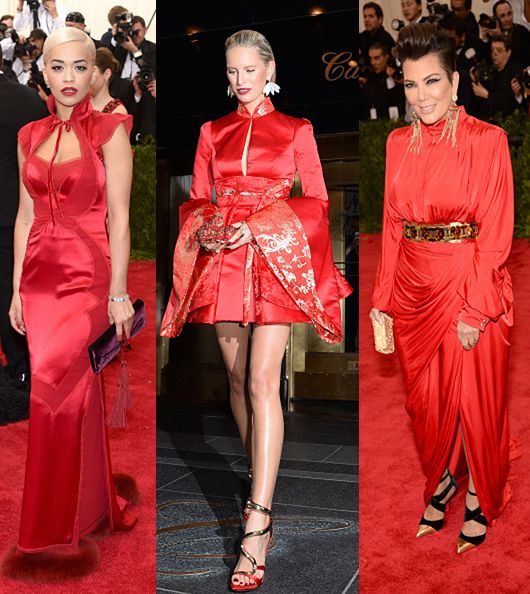 Rita Ora in Tom Ford, Karolina Kurkova in Tommy Hilfiger and Kris Jenner in Balmain
