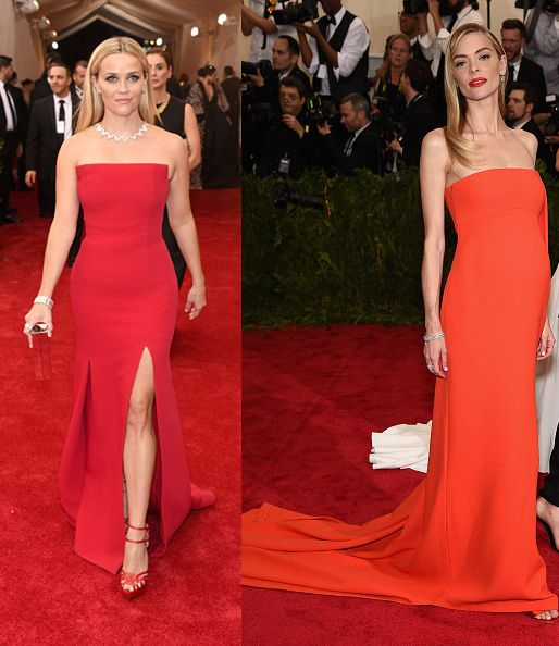 Reese Witherspoon in Jason Wu and Jaime King in Jaso Wu x Hugo Boss